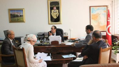 صورة جلسة عمل حول الاستعدادات لحسن تأمين موسم الريّ الفلاحي