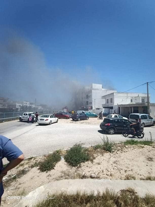 صورة صفاقس: اندلاع حريق هائل الان بمعمل الفقي للملابس
