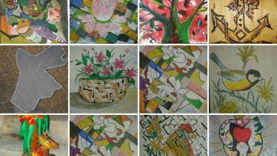 صورة فنان تشكيلي من الأردن  يعيد تدوير الأخشاب الى لوحات فنية