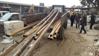 صورة حجز حفارة آبار بالقوة العامة في زغوان
