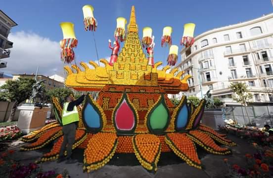 صورة فرنسا : صور من مهرجان الليمون في دورته 88 بمينتون