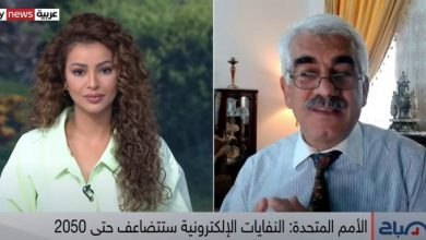 صورة #عماد_سعد في حوار مع قناة سكاي نيوز عربية حول النفايات الإلكترونية